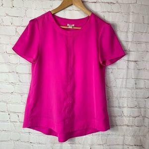 J. Crew Pink Short Sleeve Blouse Size XS